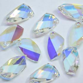 Pingente de Vidro 20 mm Transparente Cristal Lapidado Irizado 712066