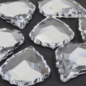 Pingente Lustre Transparente Amêndoa  Bordado Facetada Pendluque Asfour 63 x 43 mm 712081