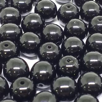 Conta de Porcelana 8mm Opaca Preta - 300 uni - 2398 - 710718