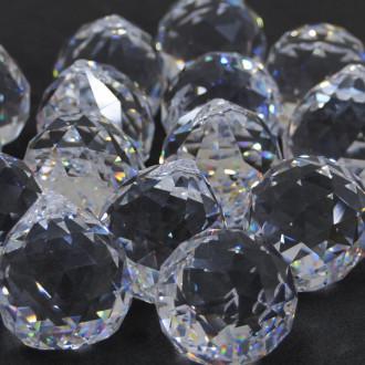 Pingente Lustre Transparente Bola 20 mm Balls  Facetada Asfour  712213