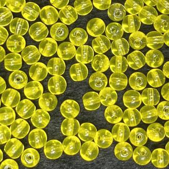 Conta de vidro Transparente Amarelo  5 mm 708580