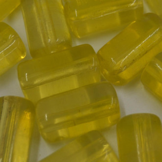 Firma  grande  24 x 13 mm Vidro Transparente Amarelo Limão 708666