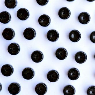 Enfeite Murano de Vidro Opaco Tcheco Cilindro 5 x 7 mm Preto 709115