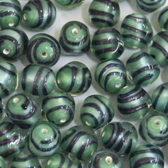 Murano Italiano Filetado Verde 12 mm 709284