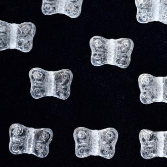 Enfeite de Vidro Tcheco Borboleta 8 mm Branco 709599