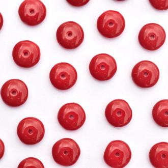 Enfeite de Vidro Opaco Tcheco Disco 9 mm Vinho 710348