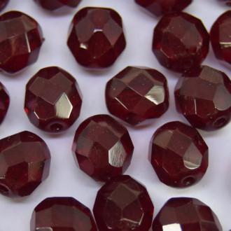 Cristal 8 mm Transparente Vermelho Escuro Dark Red 710588