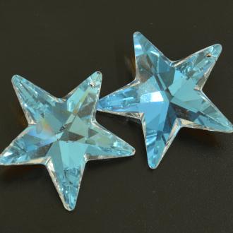 Pingente Estrela 40 mm Transparente Cristal Lapidado AB Aurora Boreal Furtacor  711268