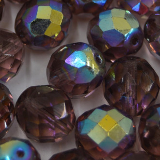 Cristal 12 mm Transparente Irizado Lilás 711628