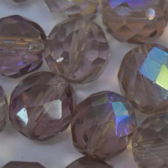 Cristal 10 mm Transparente Irizado Lilás 711720